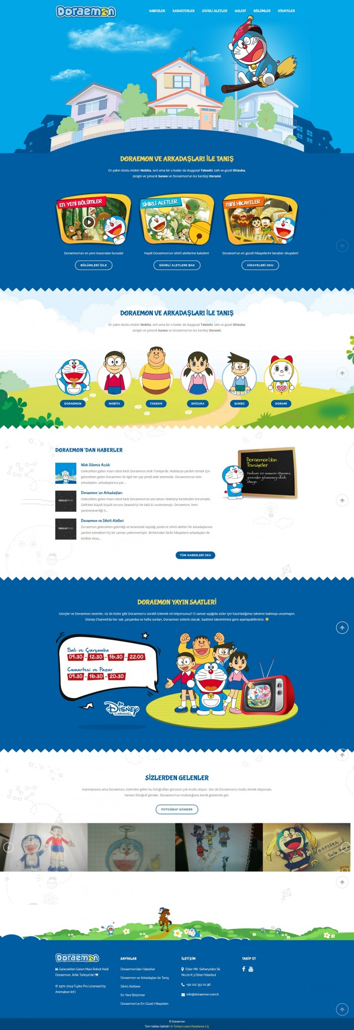 Doraemon Web Page Design Purple Pan