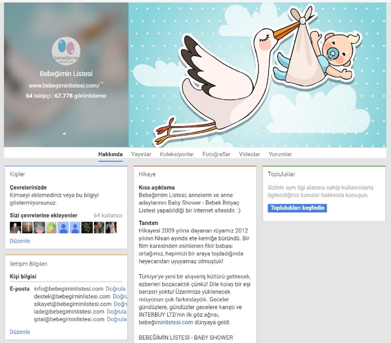 Social Media Management Google Plus Bebegimin Listesi Baby Shower