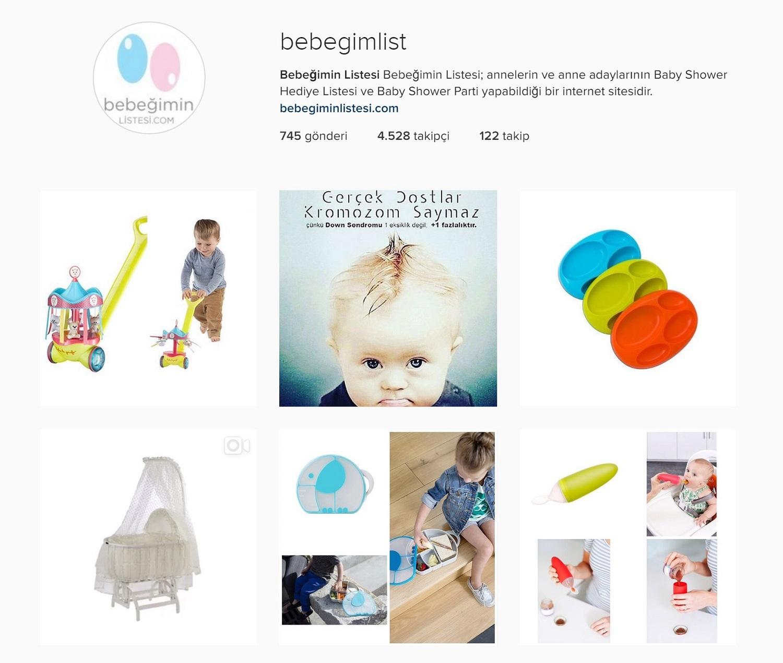 Social Media Management Instagram Bebegimin Listesi Baby Shower