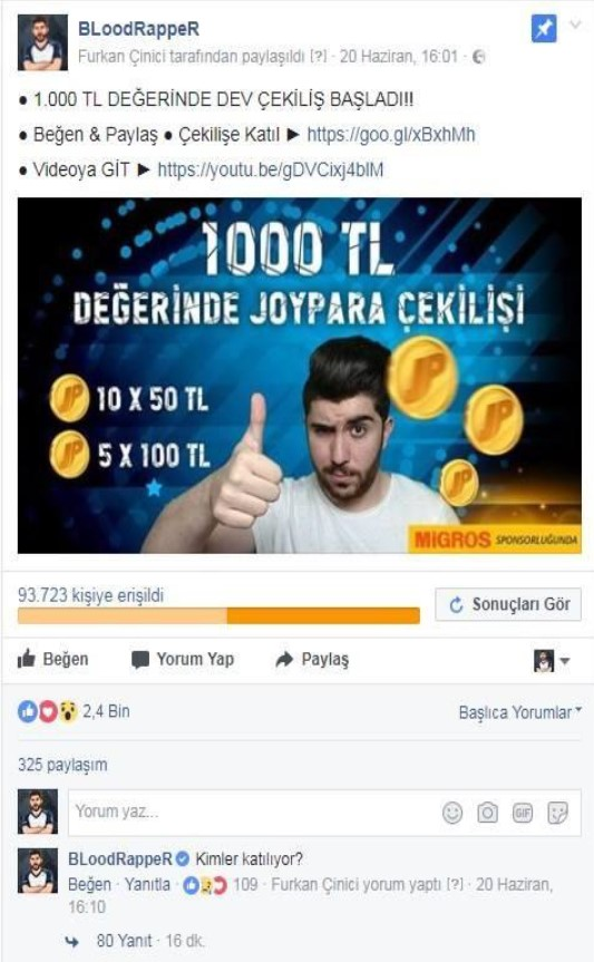 bloodrapper ve migros influencer marketing raporu