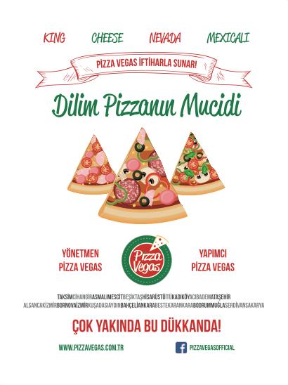 Billboard Pizza Vegas Kurumsal Kimlik Çalışması (Brand Identity)! Menü, ıslak mendil, - kıyafetler, pizza kutusu, kartvizitler, menüboard, motto, flyer, billboard.