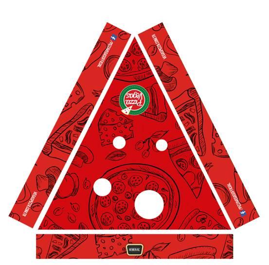 Pizza Kutusu Pizza Vegas Kurumsal Kimlik Çalışması (Brand Identity)! Menü, ıslak mendil, - kıyafetler, pizza kutusu, kartvizitler, menüboard, motto, flyer, billboard.