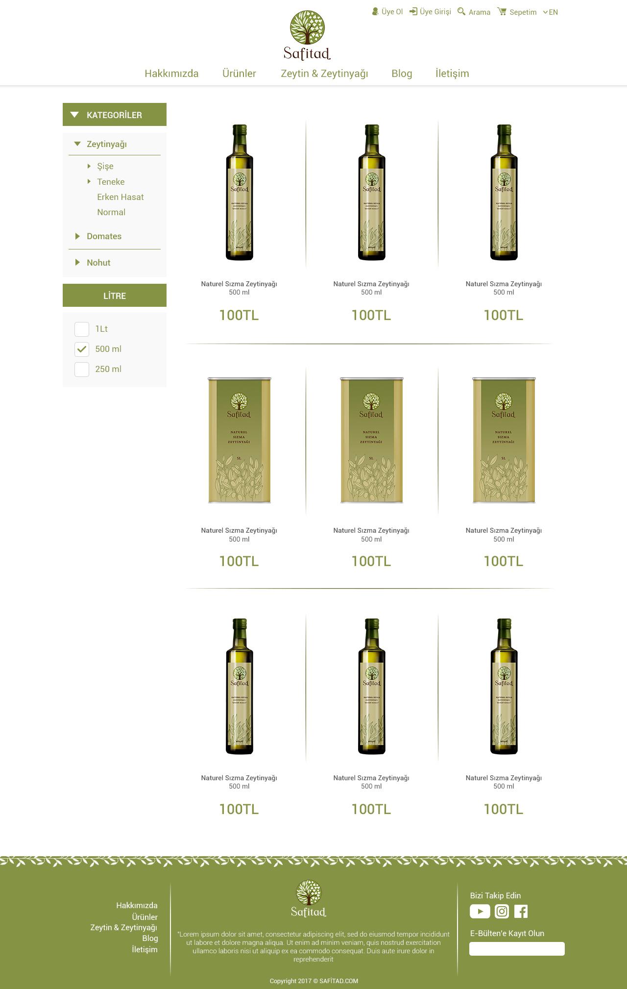 safitad e-commerce website