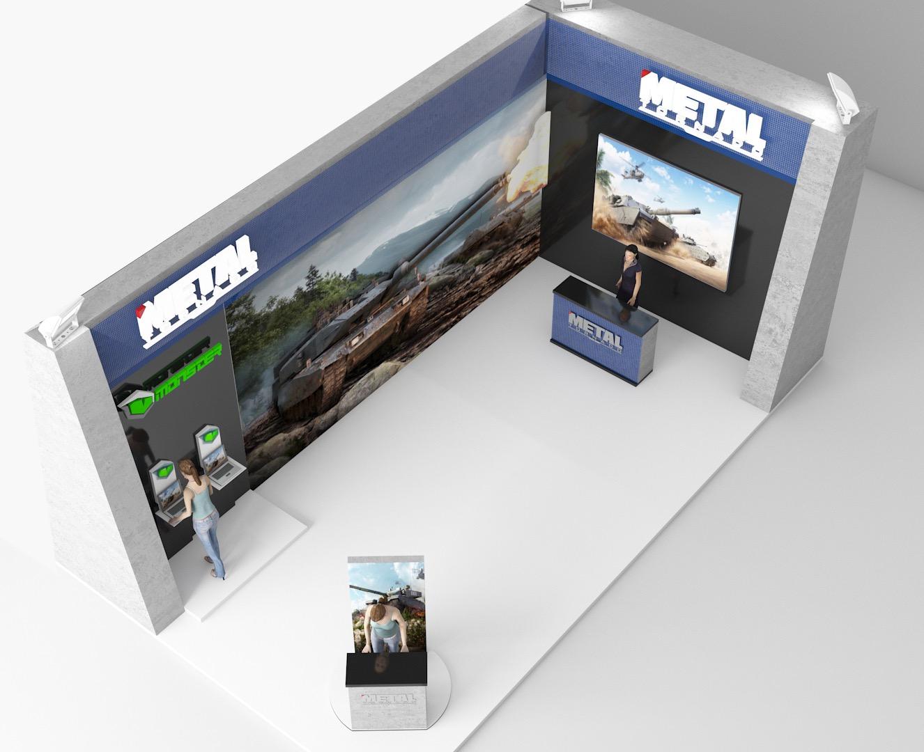 Oyun Stand Tasarımı - Game Booth Design