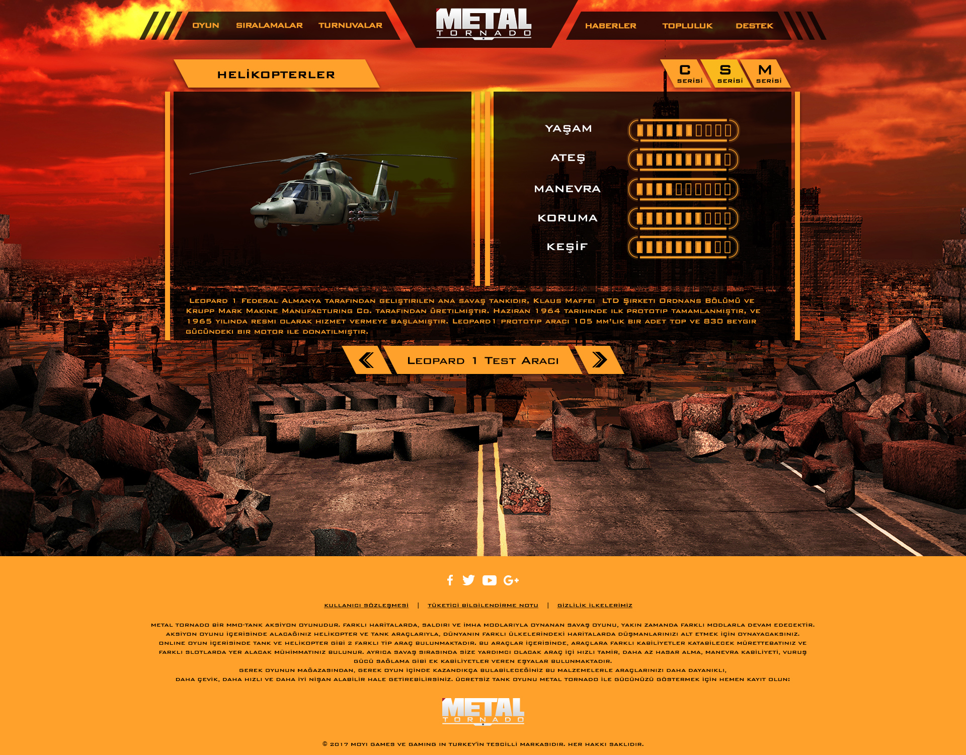 Metal Tornado Oyun Websitesi