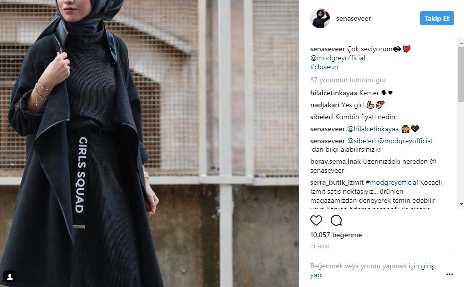 sena sever moda influencer