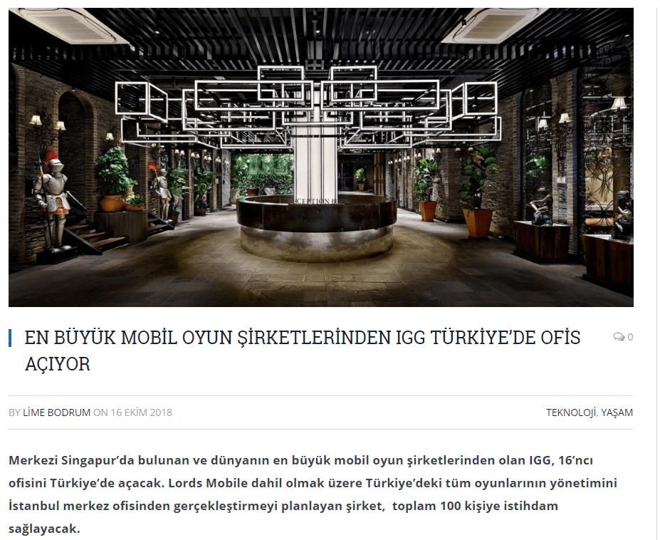 IGG Oyun PR Ekim 2018