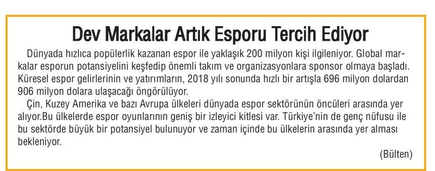 espor pr Türkiye