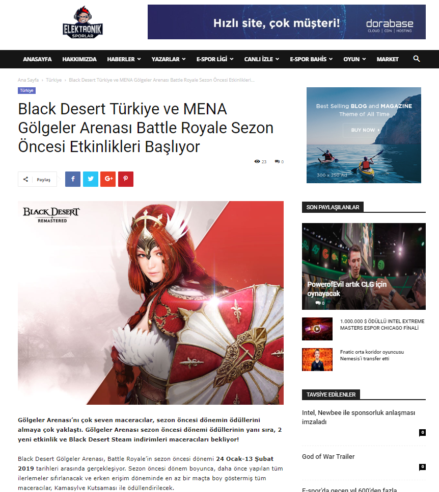 Black Desert Online Ocak 2019 PR 12