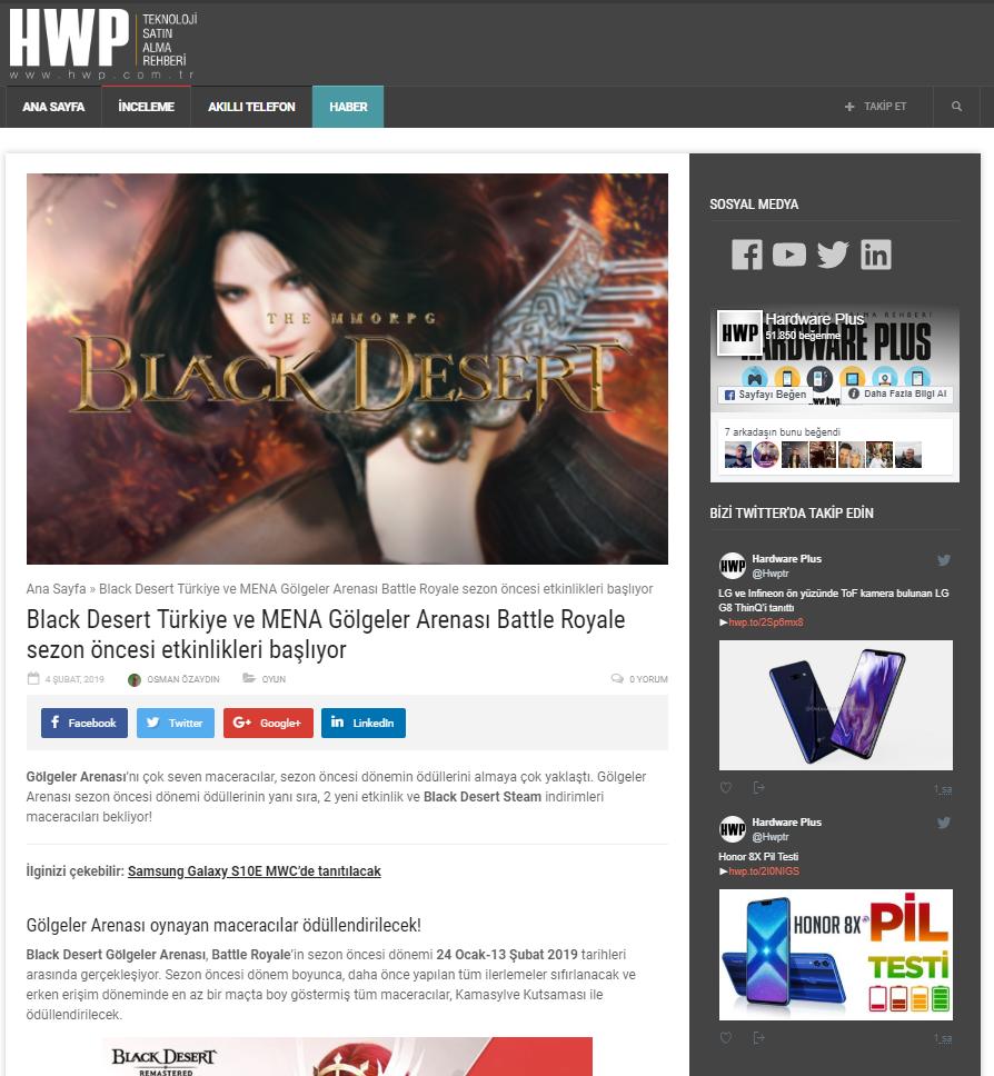 Black Desert Online Ocak 2019 PR 13