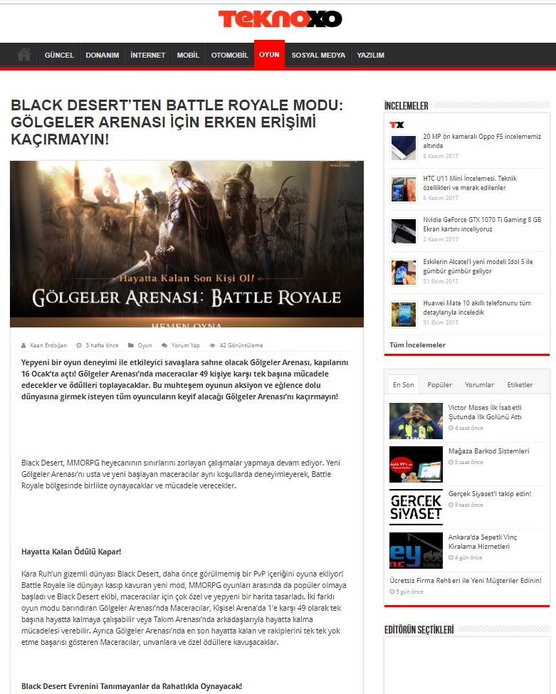 Black Desert Online Ocak 2019 PR 5