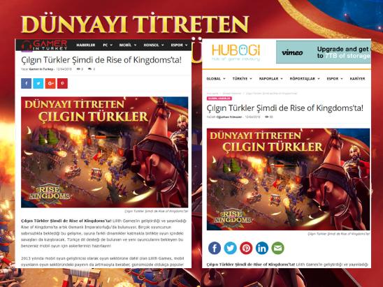 Rise of Kingdoms Nisan 2019 PR